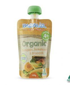 Thức uống hữu cơ: bí đỏ, bắp, bông cải xanh