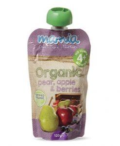 Thức uống hữu cơ lê, táo, quả mọng berries