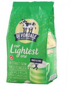Sữa bò tách béo Devondale