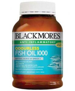 Dầu cá fish oil không mùi Blackmores odourless 1000 400 viên