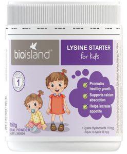 Bột tăng chiều cao bio island lysine starter (dưới 6 tuổi) Bio Island Lysine Starter for Kids 150g Oral Powder