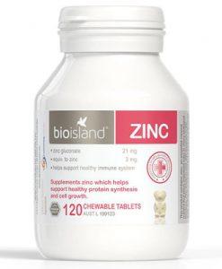 Thuốc bổ sung kẽm cho bé Bio Island Zinc 120 viên nhai