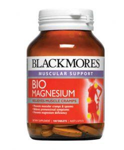 Thuốc bổ sung Magie Blackmores Bio Magnesium hỗ trợ chức năng của cơ khớp và có thể giúp ngăn ngừa chuột rút và co thắt cơ, với liều cao mỗi ngày một lần. Tác dụng Có thể giúp phòng ngừa chuột rút và co thắt cơ Phù hợp cho những người tập thể dục thường xuyên Thuốc bổ sung Magie Blackmores Bio Magnesium được sản xuất ra với sự kết hợp của hai loại magiê với các chất dinh dưỡng bổ sung bao gồm vitamin B, & D. Sản phẩm để hỗ trợ phòng ngừa chuột rút và co thắt cơ. Thuốc sử dụng thành phần chất lượng cao để cung cấp một liều cao magiê (300 mg) cộng với đồng - giúp gia tăng hấp thu chất dinh dưỡng vào cơ thể Thuốc bổ sung Magie Blackmores Bio Magnesium dưới dạng viên nang, dễ nuốt mỗi ngày.