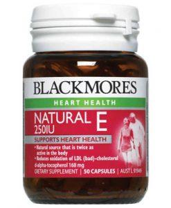 Thuốc bổ sung Vitamin E tự nhiên Blackmores Blackmores Natural Vitamin E 250IU 50 Viên