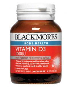 Thuốc Vitamin D3 Blackmores Vitamin D3 1000IU 60 Viên của Úc