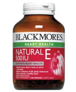 Viên uống bổ sung vitamin E tự nhiên Blackmores 500IU