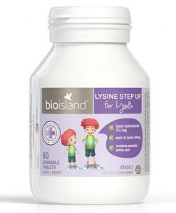 Viên uống tăng chiều cao Bio Island Lysine Step Up for Youth 60 viên nhai