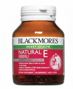 Viên uống Vitamin E Blackmores Natural Vitamin E 1000IU 30 Viên