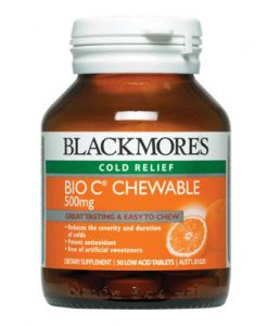 Blackmores Bio C 500mg 50 Chewable Tablets Vitamin C