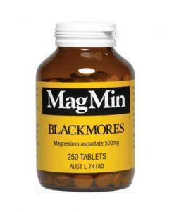 Bổ sung Magie cho cơ thể Blackmores Magmin 500mg 250 Viên