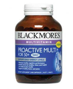 Bổ sung Vitamin mỗi ngày (24 Vitamin) Blackmores Proactive Multi for 50+ 100 Viên