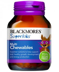 Kẹo nhai Vitamin cho trẻ em Blackmores Superkids Multi 60 Viên