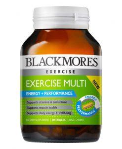 Thuốc bổ cho người chơi thể thao Blackmores Exercise Multi 60 Viên