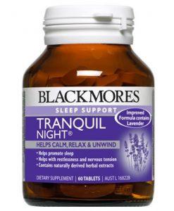 Thuốc bổ giảm căng thẳng mệt mỏi Blackmores Tranquil Night 60 Viên