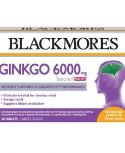 Thuốc bổ não Ginkgo Blackmores - Bạch Quả 6000mg 30 viên (Tebonin® EGb 761®)
