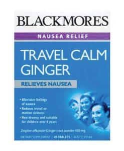 Thuốc chống say xe Blackmores Travel Calm Ginger 45 Viên