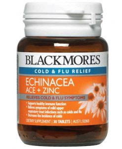 Thuốc điều trị bệnh cảm cúm từ hoa cúc dại Blackmores Echinacea ACE + Zinc 30 Viên
