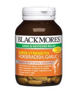 Thuốc điều trị cảm lạnh Blackmores Super Strength Horseradish Garlic + C 90 Viên