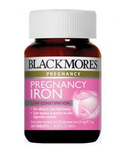Thuốc sắt cho bà bầu Blackmores Pregnancy Iron 30 Viên