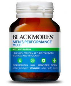 Thuốc tăng cường sinh lực đàn ông Blackmores Men's Performance Multi