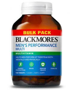 Thuốc tăng cường sinh lực đàn ông Blackmores Men's Performance Multi Bulk Pack 150 Viên