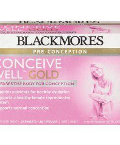 Thuốc tăng khả năng thụ thai Blackmores Conceive Well Gold 56 Viên của Úc