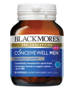 Thuốc tăng khả năng thụ thai cho nam Blackmores Conceive Well Men 28 Viên
