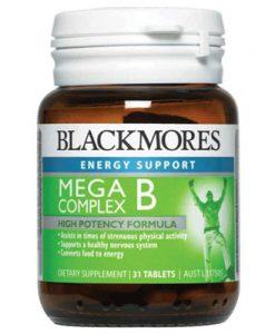Thuốc tăng năng lượng Blackmores Mega B Complex: 31 viên