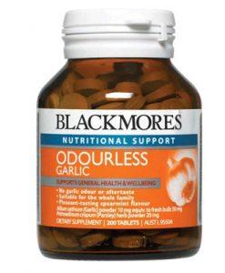Thuốc trị cảm cúm bằng tỏi Blackmores Garlic Odourless 200 Viên
