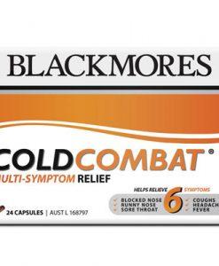 Thuốc trị cảm cúm đa năng Blackmores Cold Combat Multi-Symptom có chứa liều andrographis được thử nghiệm lâm sàng; để giúp làm giảm 6 triệu chứng ho, sổ mũi, nghẹt mũi, đau đầu, sốt và đau họng.