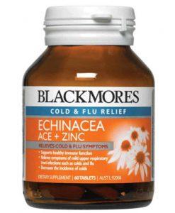 Thuốc trị cảm cúm sổ mũi Blackmores Echinacea ACE + Zinc 60 Viên