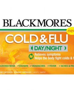 Thuốc trị cảm cúm và cảm lạnh Blackmores Cold & Flu Day/Night