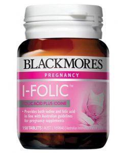 Viên Bổ Sung I-ốt và Axit Folic Blackmores I-Folic 150 Viên
