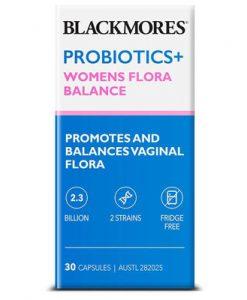 Viên uống phục hồi vệ sinh âm đạo Blackmores Probiotics+ Womens Flora Balance 30 Viên