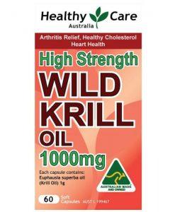 Dầu nhuyễn thể Krill Oil - Healthy Care - Úc