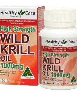 Dâu krill oil Healthy Care Úc - nhuyễn thể - Hàng xách tay Úc