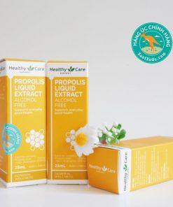 Keo ong của Úc Healthy Care Propolis Liquid Extract Alcohol Free 25mL Mẫu mới