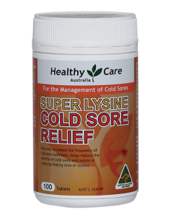 Viên uống Super Lysine Cold Sore Relief Healthy Care 100 Viên