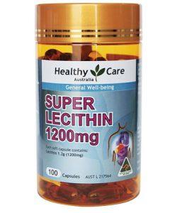 Mầm đậu nành Healthy Care Super Lecithin 1200mg 100 viên