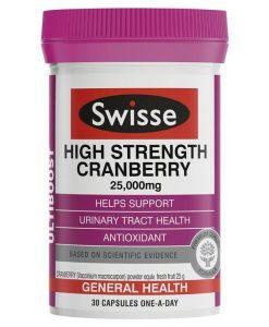 Swisse Ultiboost Tăng Cường độ Cranberry 25,000mg 30 viên nang