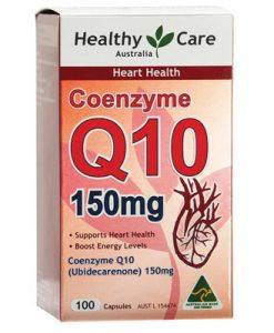 Thuốc bổ tim CoEnzyme Q10 150mg Healthy Care, hàng úc xách tay