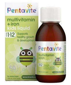 Siro Vitamin tổng hợp và Sắt PENTAVITE Úc 100ml cho bé (1 - 12 tuổi)